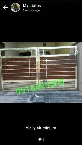 New Steel gate +reling wrk 300 rs per kg vicky99154995