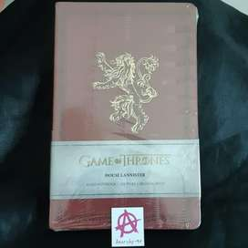 Ruled Notebook Game of Thrones - House Lannister 128 pages Buku Notes