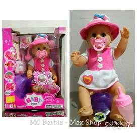 Boneka Bayi Imut bisa Pipis dan Bersuara / Baby Born