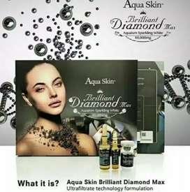 Vit C collagen Aqua skin brilian original swiss memutihkan kulit