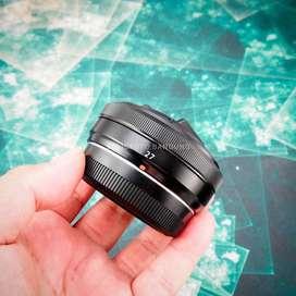 Fujinon 27mm f2.8. Fullset Mulus Sekali. fuji fujifilm XF