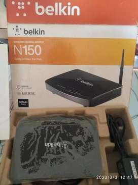 Belkin N150 ADSL2+ wifi router For sale