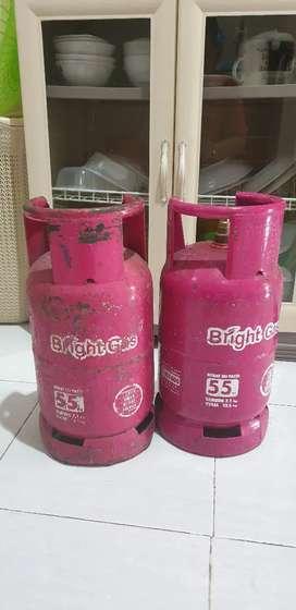 2 Tabung Gas BRIGHT  5,5 Kg ( kosong )