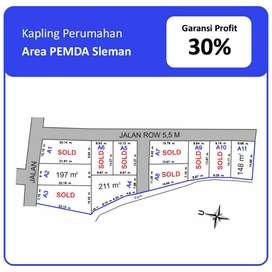 Beli Tanah Dekat Sleman City Hall Profit 30%, SHM Pecah Unit