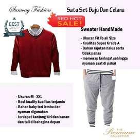 AM00253 Celana Setelan Satu set Sweater dan celana jogger