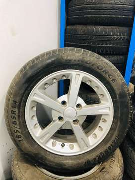 Used Alloy Rims & Tyres Set Size 14