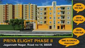 Newly lunched 1/2/3BHK Appartment(G+6)Jagannath Nagar Rasulgarh BBSR