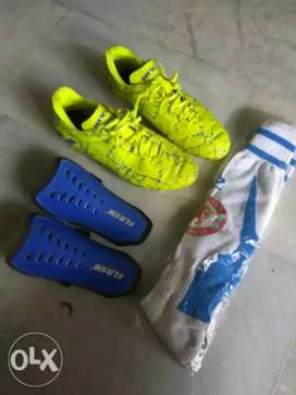 Brand new football shoes and assessories