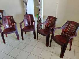 12 Plastic chairs for sell. Each for 600/-