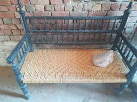Wood 2seater sofa and 2chair royal desi style