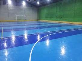 Pembuatan lantai interlock untuk gor dan lapangan futsal