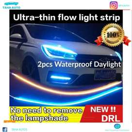 12V Turn Signal Light Flexible Silicon Car LED Strip Lights Daytime Ru