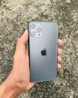 IPhone 11 Pro 64Gb Space Grey Elegant Fullset Mulus