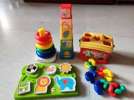 Fisher price toys and wooden puzzle
