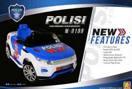 Mainan mobil aki polisi