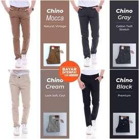 Celana Chinos Chino Panjang Pria Aneka Warna Ready ukuran 27-45
