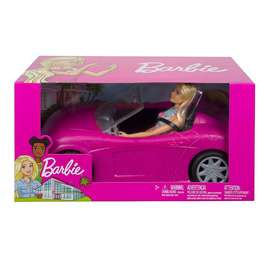 Barbie Doll and Car (Pink)
