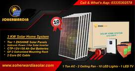 Solar Power System Home. 3 Kw Solar Power system for Home, Office.