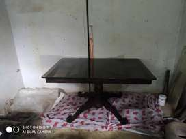 Used Wooden glass top dining table for sale Rs.6500/-