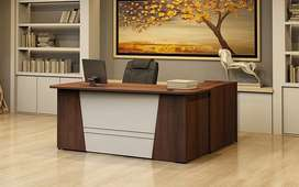 office boss table & reception counter with computer
