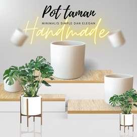 Pot taman minimalis dan elegan handmade teraso free ongkir