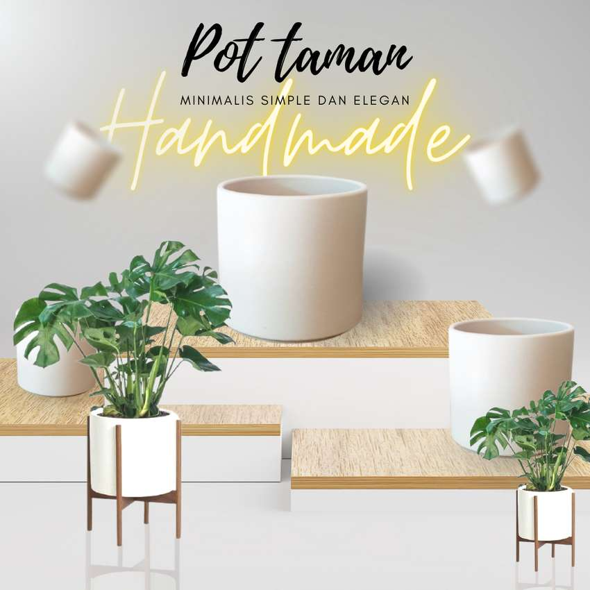 Pot taman minimalis dan elegan handmade teraso free ongkir 0