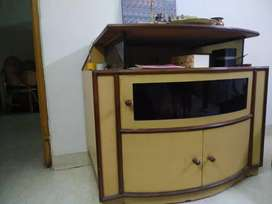 Wooden cabinet with wheels cum TV stand,