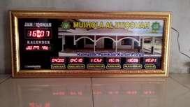 Jam Jadwal Shalat ukuran (75x30) bergaransi