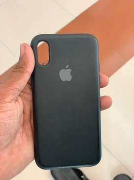 Iphone x/xs silicon case (black)