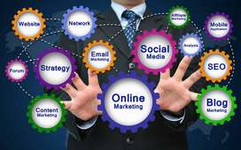 online markeeting k liye aur office manger k liye educated feemales