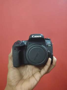 Canon 77d camera body with 50 mm lens 10month old