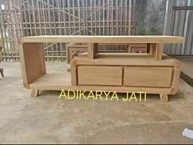 Meja tv minimalis readi  bahan solid kayu jati..