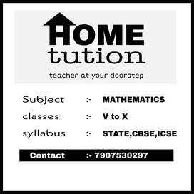 Home tution for mathematics