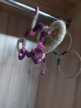 Scalf hanger hand decorated