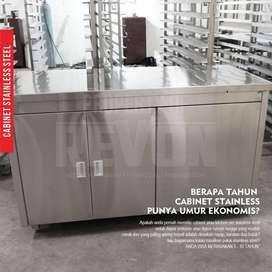 kabinet stainless steel dapur bawah meja cabinet di Padang