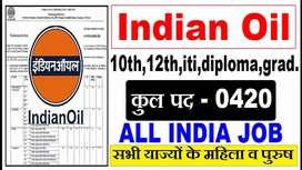 URGENT VACANCY IN INDIAN OIL CORPORATION CONTACT NOW