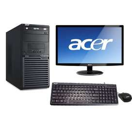 ACER core 2 duo PC  + LED MONITOR + wi fi -  sale - Rs.6200/- onwads