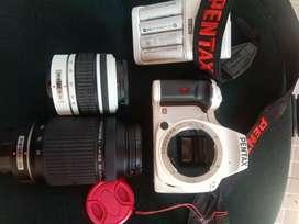 Kamera pentax K-x 1 set + lensa pentax hd 55-300mm