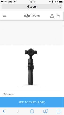 Dji Osmo Plus with Extra Battery and Case in