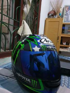 Arai rx7rr5 hopkins monster energy.ada box dan sarung