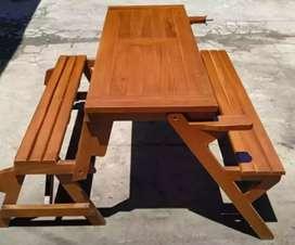 Kursi caffe / kursi kantin/ meja makan magic kayu jati