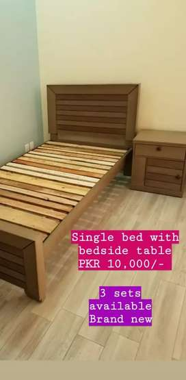 Bed and bed side table