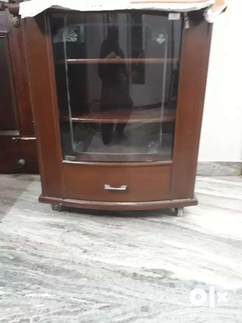Wooden cupboard revolving Trolley