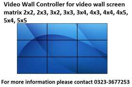 Video Wall controller 4, 6, 9, 12, 15, 16, 24 Screen Video Wall System