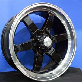 velg racing fortuner tipe glock ring 20 lebar 9,5 warna hitam polish