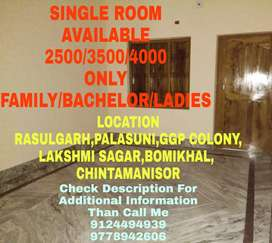 Single Room(2500,3500,4000) Available Near Palasuni To Chintamanisor