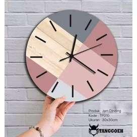 Jam Dinding Kayu by TANGGOEH [TP010] / Jam Dinding Wooden Scandinavian