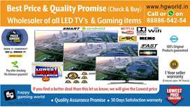Led Tv(Unbeatable Price & Quality Promise)Smart/Normal/4k Uhd All Size