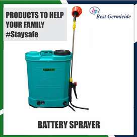 Battery operated automatic sprayer