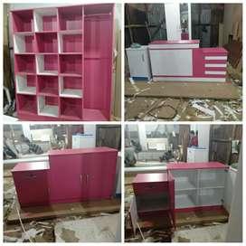 Jual furniture lemari londry rak&meja kasir